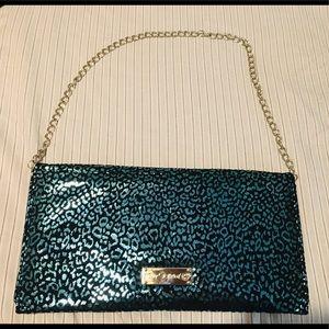Betsey Johnson Metallic Handbag/Clutch